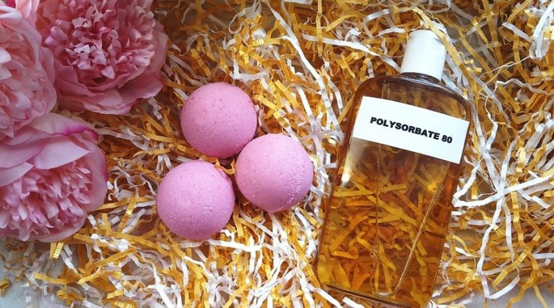Polysorbate 80 and bath bombs