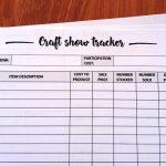 Craft fair inventory tracker - free printable