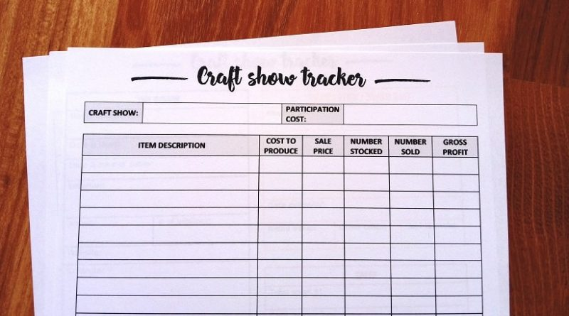free printable craft inventory tracker sheet