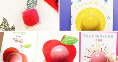 5 teacher gift bath bomb designs