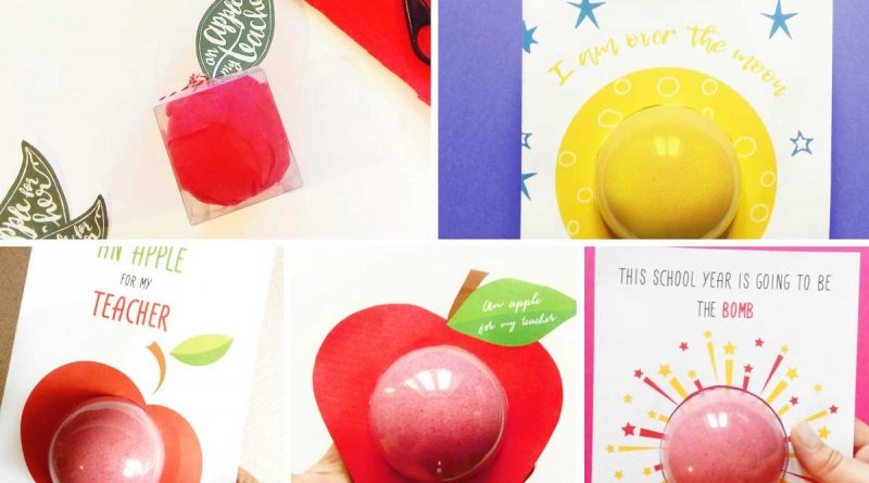 5 teacher gift bath bomb designs