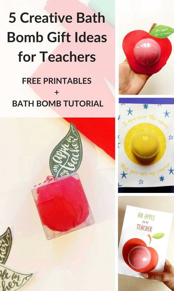 5 gift ideas for teachers that include bath bombs