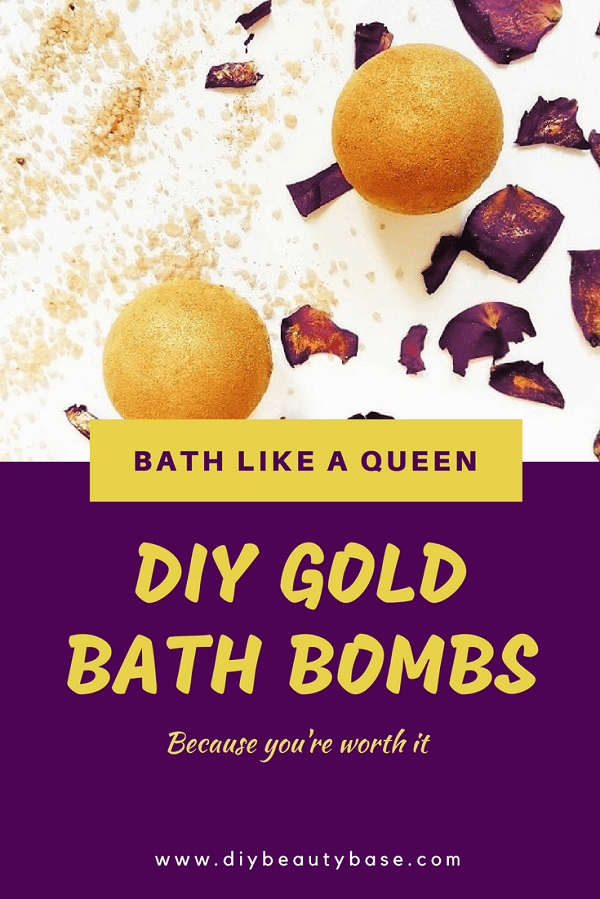 moisturizing bath bomb recipe in gold