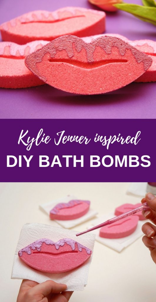 DIY bath bombs with mica powder