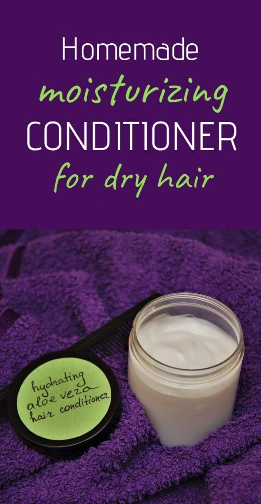 Lightweight moisturizing DIY hair conditioner recipe for dry brittle hair