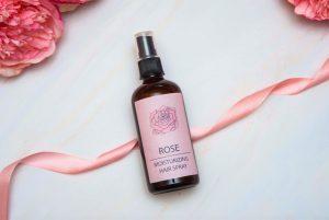 DIY hair spray with aloe vera rose water panthenol and hydrolyzed silk