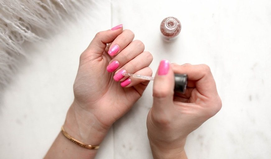 Using your DIY nail polish