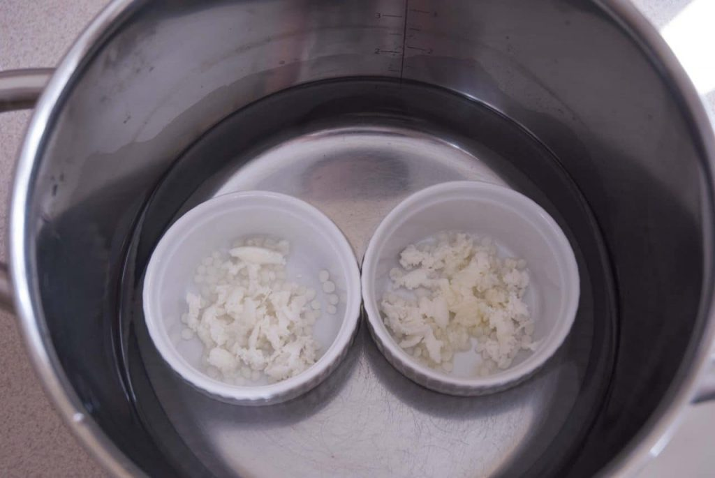 melting process for making homemade lip balms