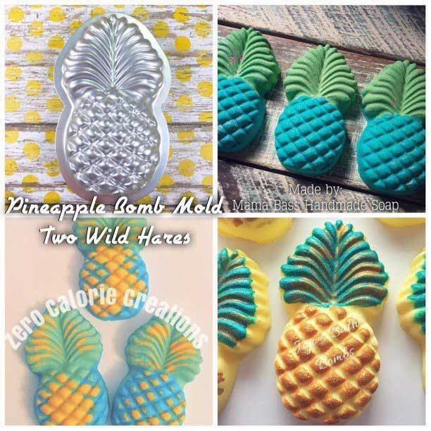 tropical pineapple mold for bath bombs