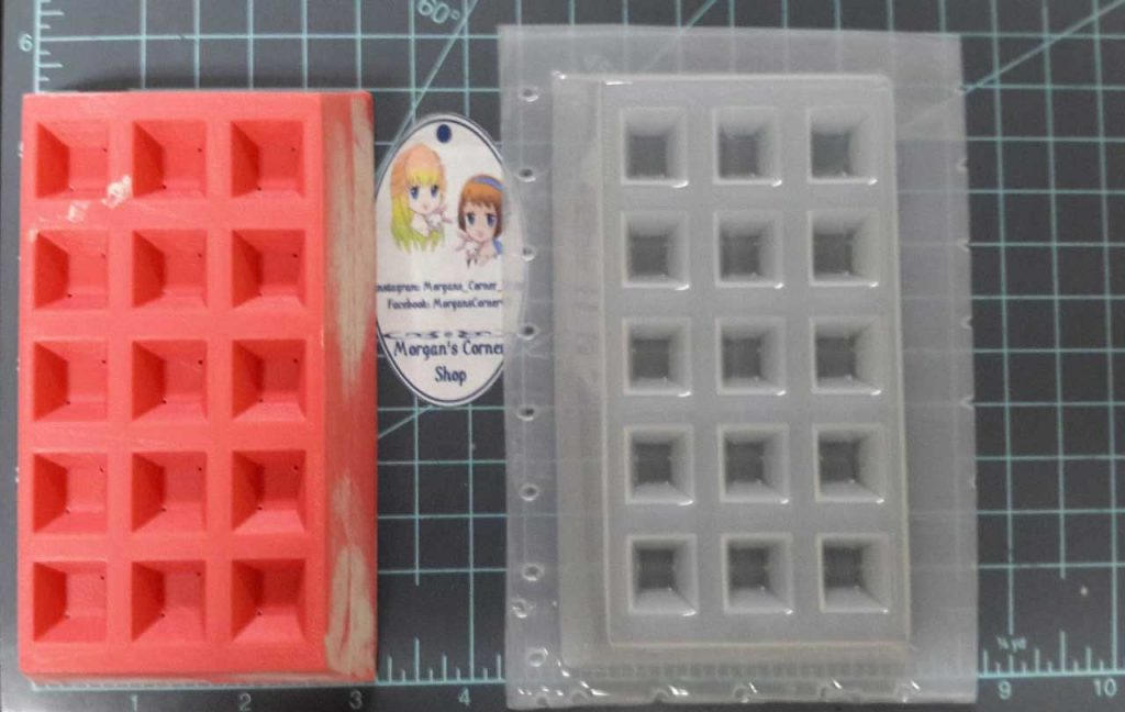 unique bath bomb mold in a shape of waffle