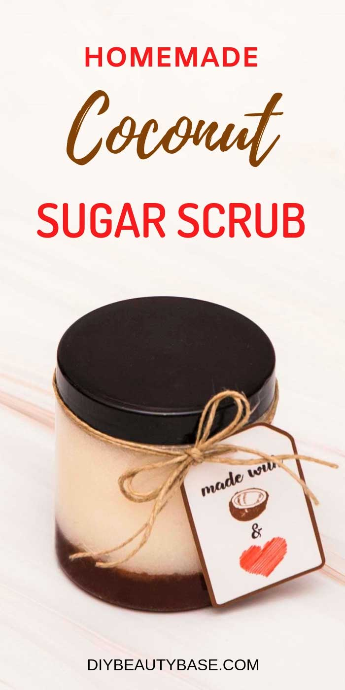 homemade coconut oil sugar scrub recipe
