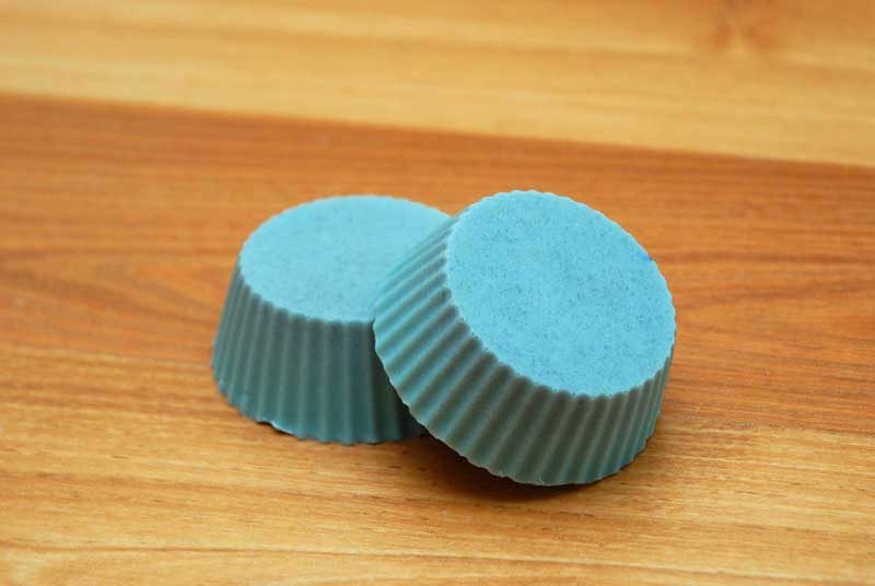 DIY foot scrub bars with pumice and essential oils