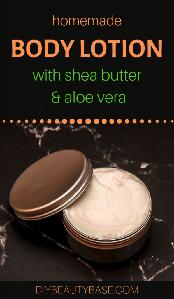 homemade lotion recipe with aloe vera and shea butter