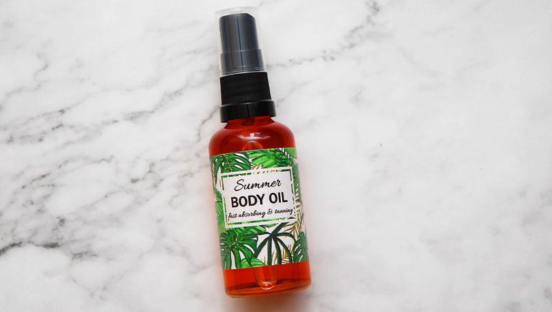 homemade body oil recipe for glowing skin