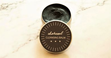 DIY charcoal cleansing balm with a label
