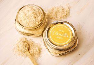 homemade bath salt recipe with vanilla essential oil