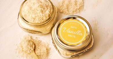 homemade bath salt recipe with vanilla essential oil