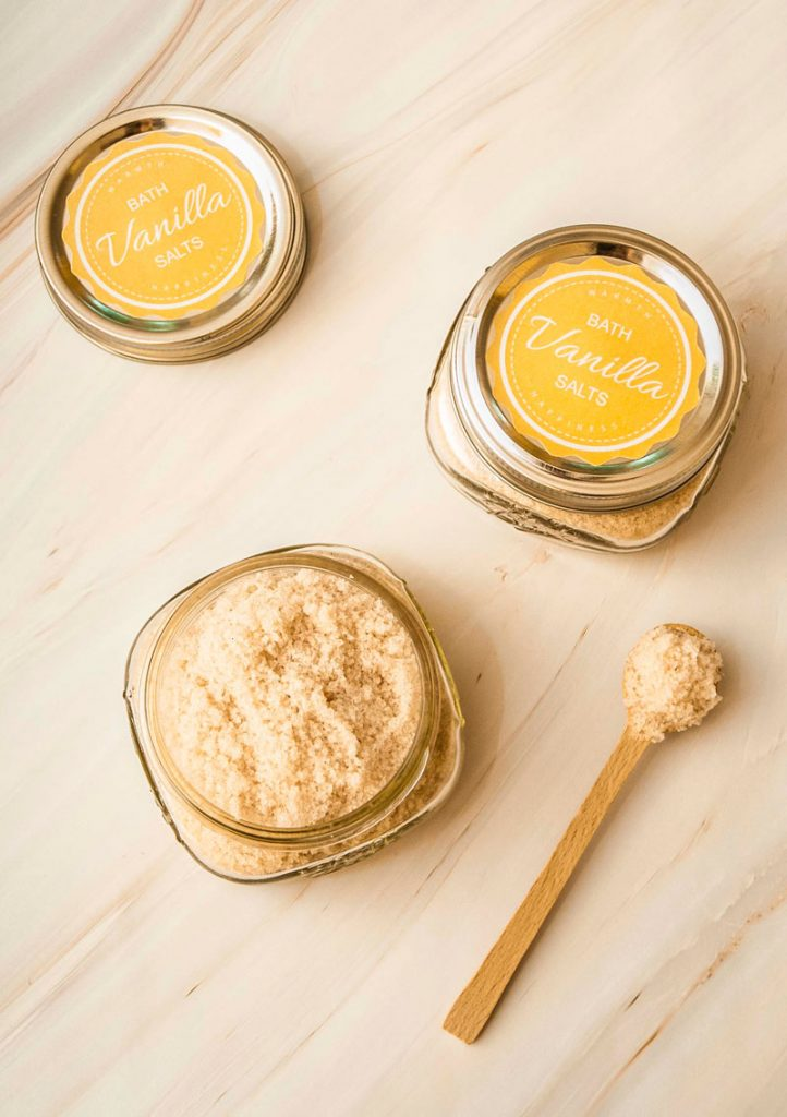 Easy Vanilla bath salts recipe with Epsom salts