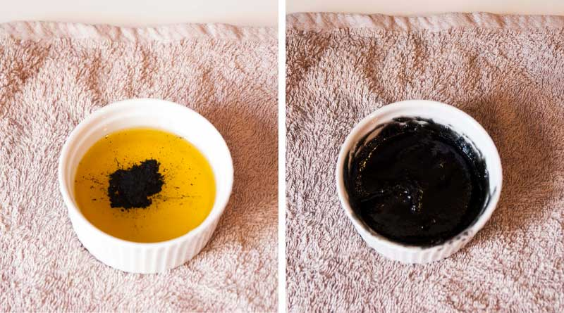making cleansing balm with charcoal