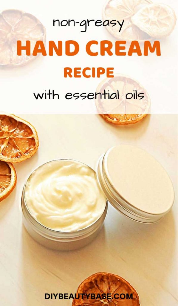 DIY hand cream made with a professional non-greasy recipe