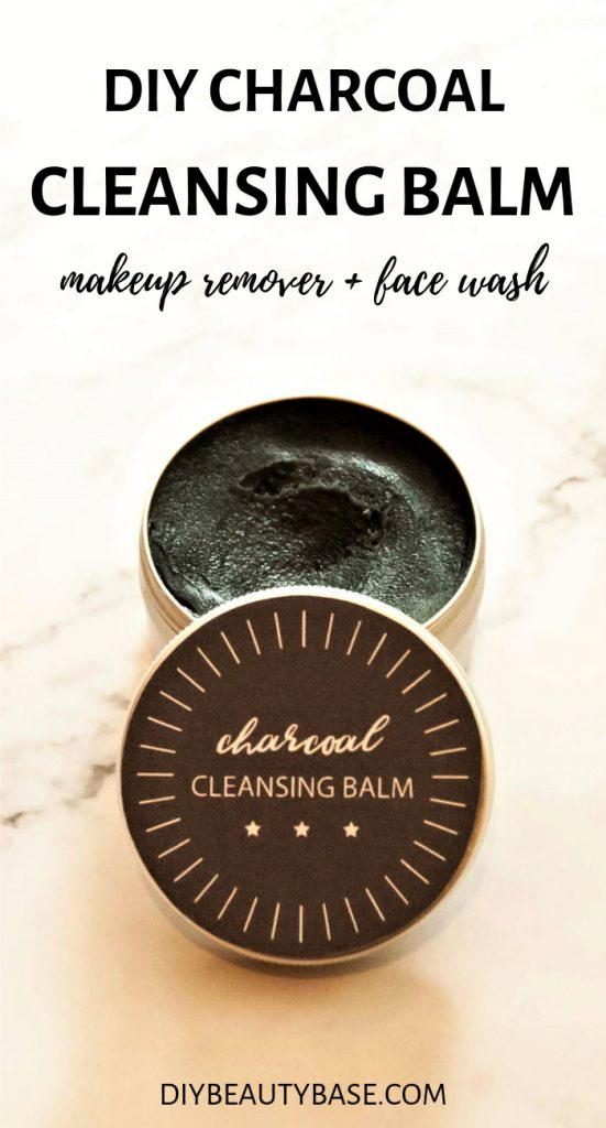 Charcoal cleansing balm diy that works as a face cleanser and makeup remover