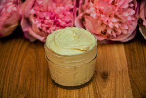DIY body butter with shea and rosehip oil