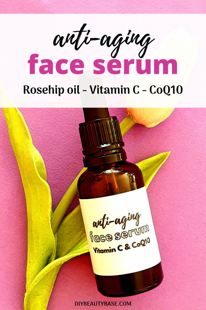 DIY anti-aging face serum with Vitamin C and Coenzyme Q10