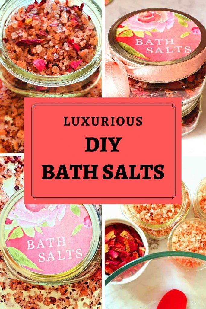Himalayan bath salts recipe with roses