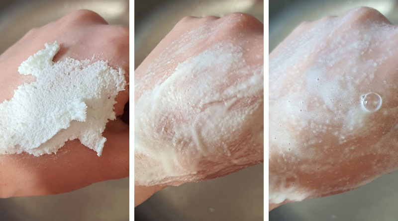 using homemade foaming foot scrub