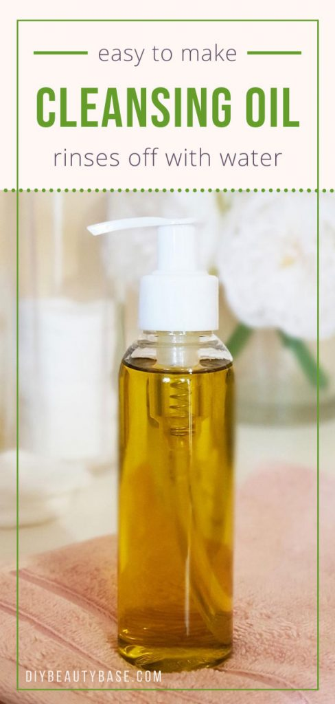 cleansing oil recipe with natural oils and emulsifier for acne prone, oily skin and dry skin