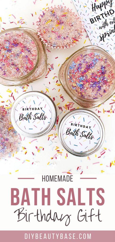 homemade bath salts for birthday gift