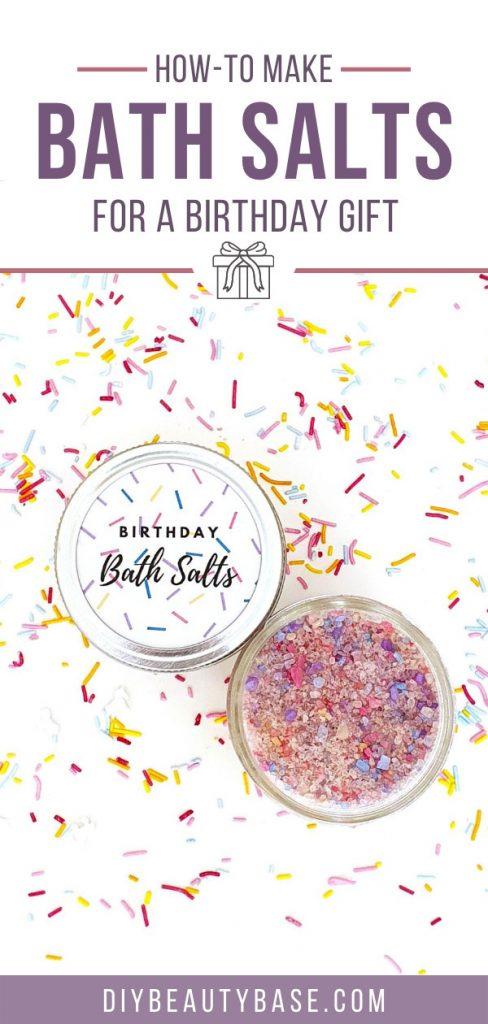 diy bath salts for a gift