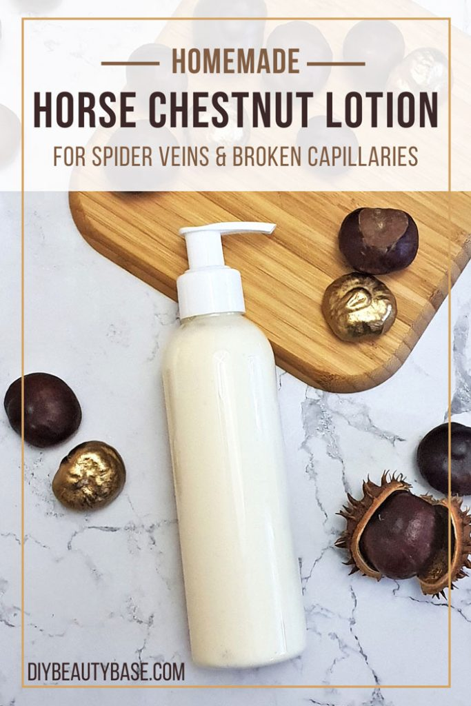 homemade horse chestnut lotion for spider veins