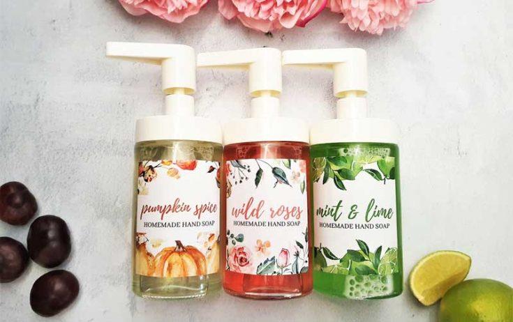 DIY Liquid Hand Soap (Wild Roes | Mint & Lime | Pumpkin Spice)