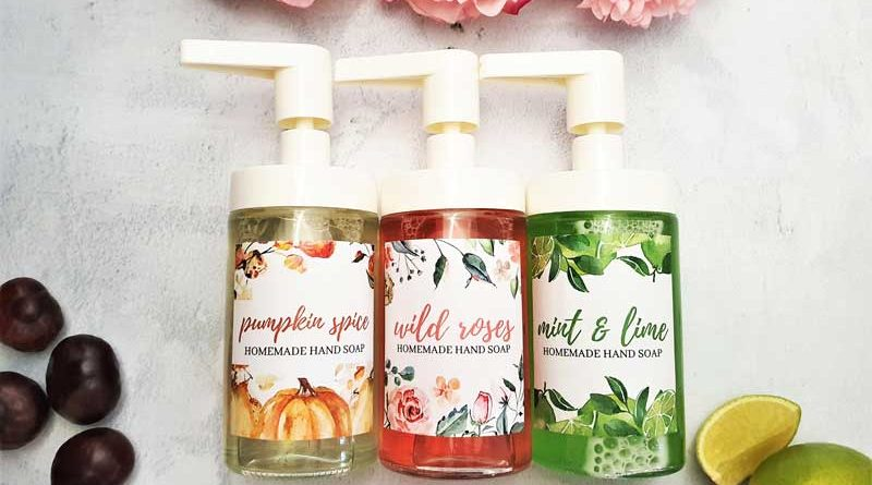 Easy DIY Liquid Hand Soap [3 Recipes + Labels]