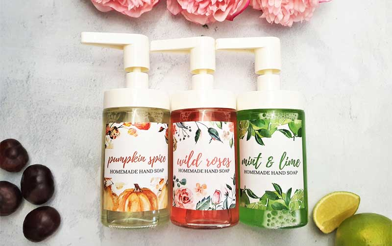 DIY liquid hand soap with essential oils