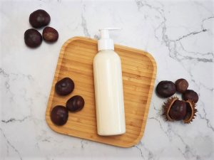 DIY lotion with horse chestnut extract formulated to improve varicose veins and broken capillaries
