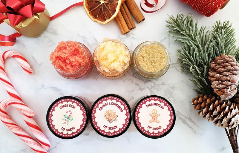 DIY lip scrub gifts for Christmas