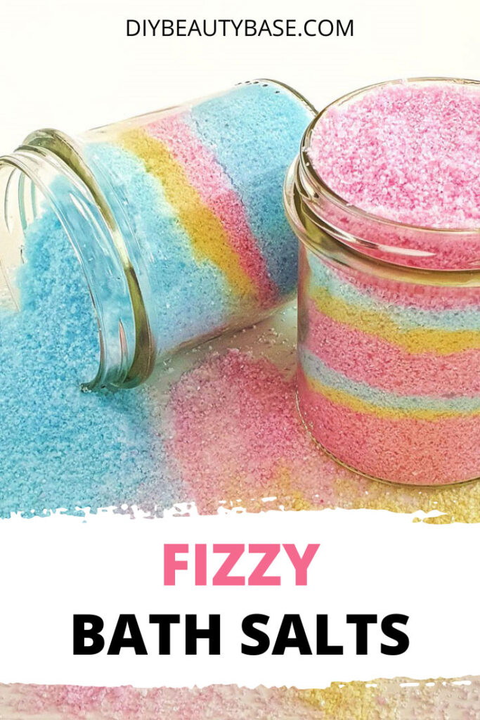 colorful homemade fizzy bath salts